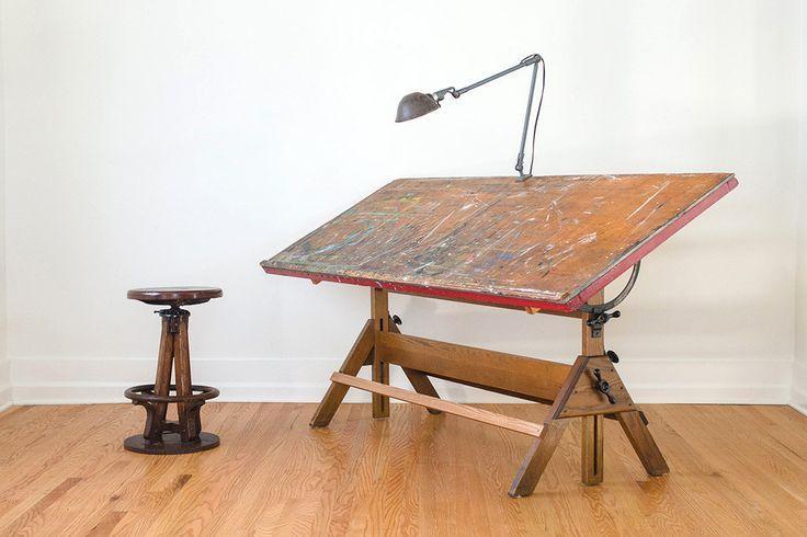 art table vintage drafting table