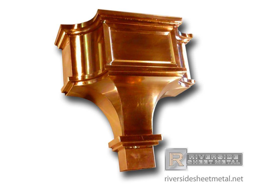 Copper Conductor Box By Riverside Sheet Metal Gutters Downspouts