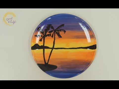 Crock A Doodle Pottery Painting Technique Ocean Sunset Ceramic Painting Painting Techniques Sunset Painting