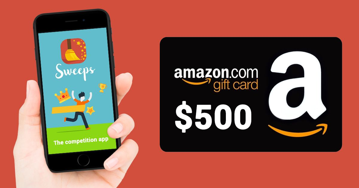 Win A 500 Amazon Voucher With The Sweeps Competition App Sweepstakes Giveaways Amazon Card Amazon Gift Cards