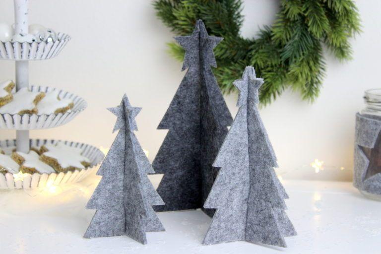 diy - 3d tannenbaum aus filz einfach selber machen