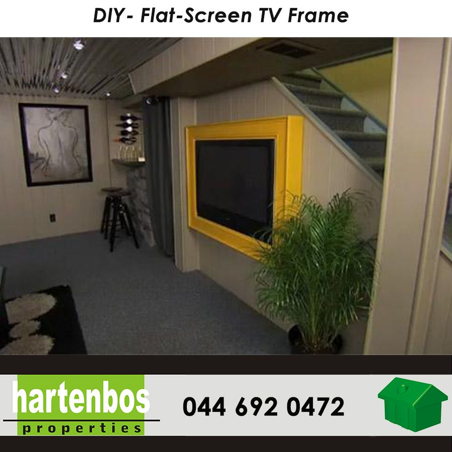 Weekend projects! DIY Flat-Screen TV Frame Want to camouflage that ...