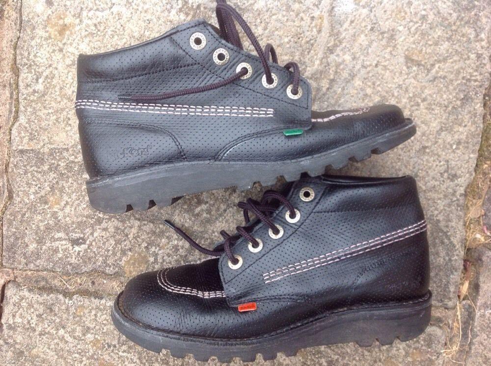 Boy's Girl's Navy Blue 'Kickers' Shoes Size EU 23 (UK
