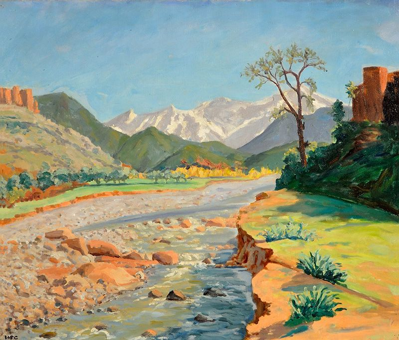 Muito Valley of the Ourika and Atlas Mountains (1948). Sir Winston  EN34