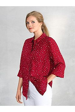 Varied Dot Print Blouse
