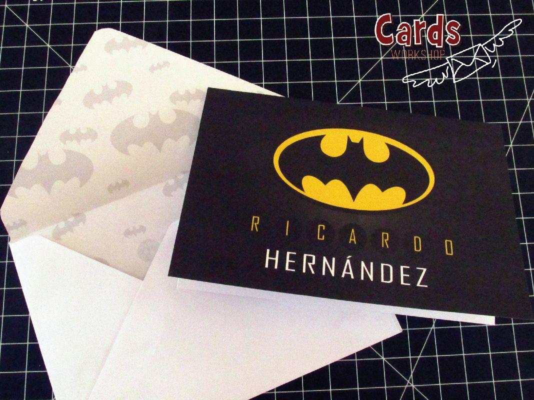 Excelente tarjeta para cumpleaños al estilo Batman Tarjetas de cumpleaños Pinterest