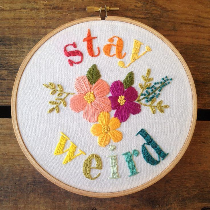 In Praise Of The Weird Moms Quotes Embroidered Pinterest