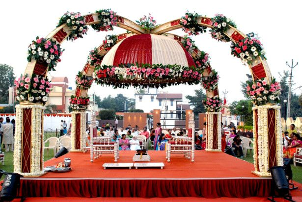 Wedding decoration ideas small outdoor indian wedding decorations wedding decoration ideas small outdoor indian wedding decorations with small curved tent and two small wooden chairs also multi wedding flowers junglespirit Images
