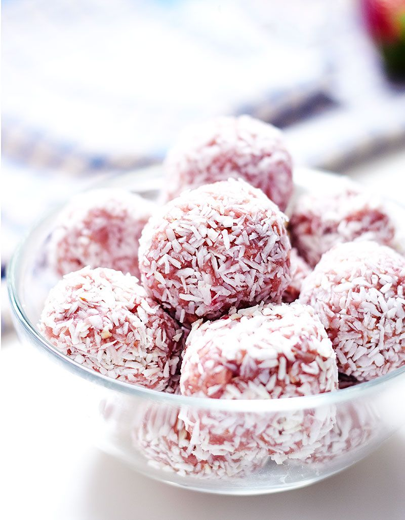 Strawberry Energy Balls Energy Ball Recipe Study Snacks Energy Bites Recipes