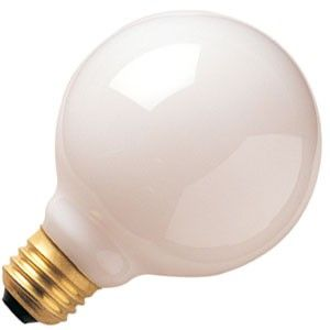 Satco 25w 120v G25 Incandescent Globe White Medium Base Bulb Incandescent Light Bulb
