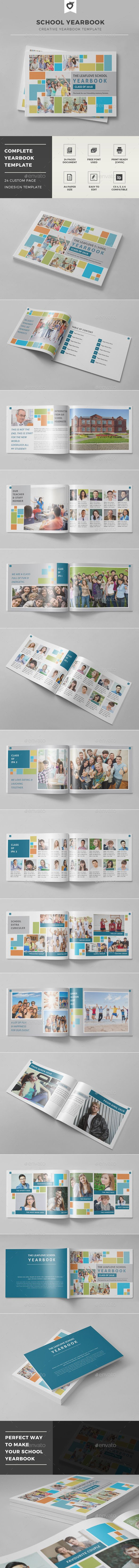 School Yearbook | Yearbook template, Yearbooks and Template