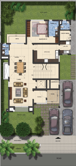 Duplex Floor Plans | Indian Duplex House Design | Duplex House Map