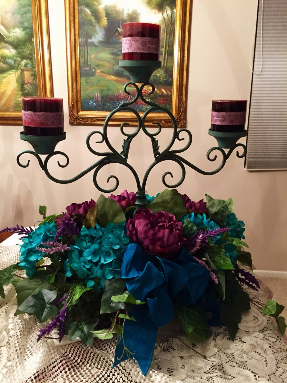 16th birthday table center piece torques candle holder