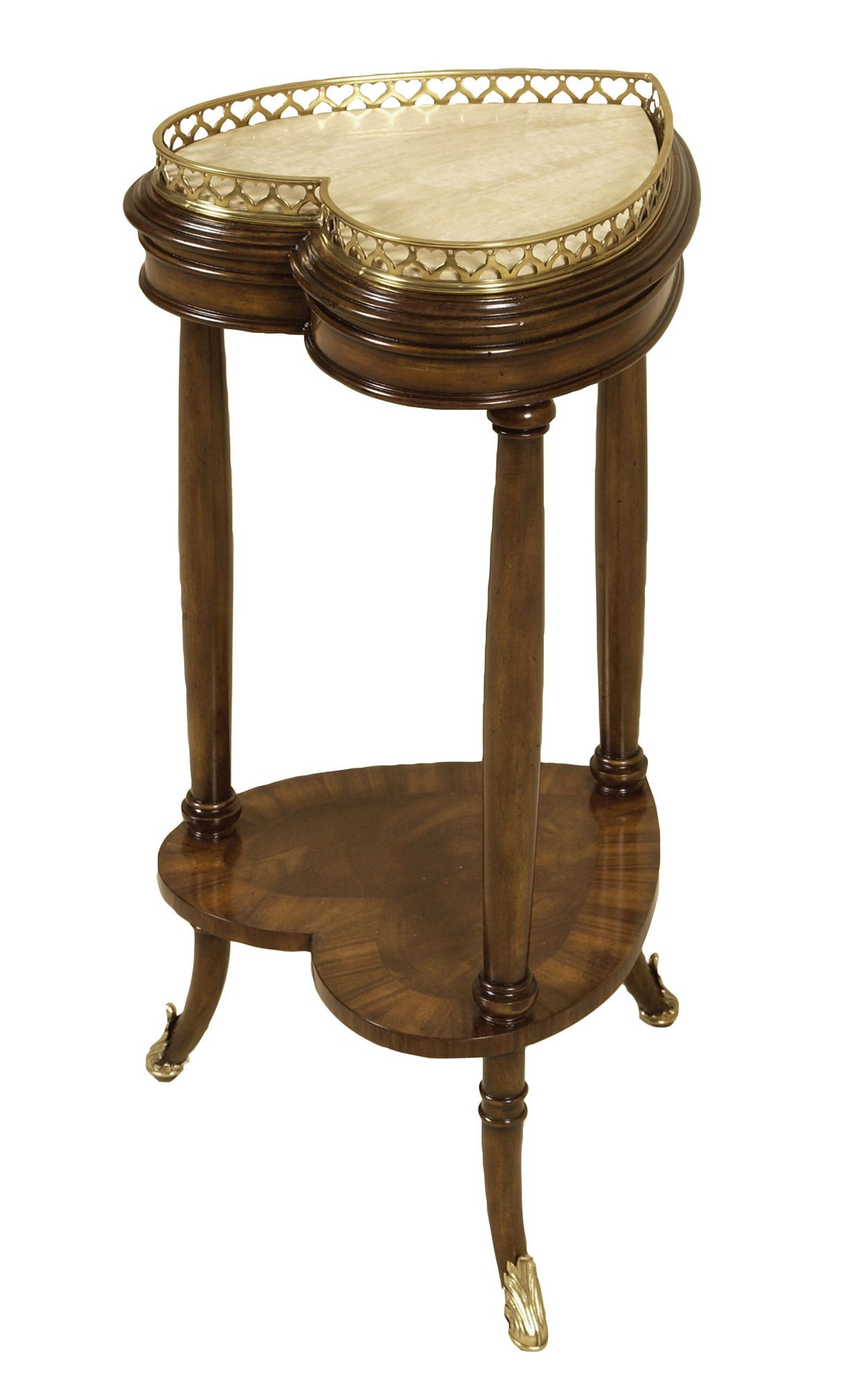2 Tier Heart Shaped Accent Table In Walnut Maitland Smith Home