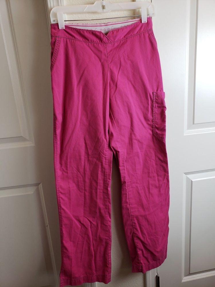f0a21ebd674 eBay #Sponsored Women's Pink KOI BY KATHY PETERSON Scrub Pants Size S TALL  EUC Free Shipping!