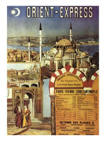 Vintage travel poster - Orient Express