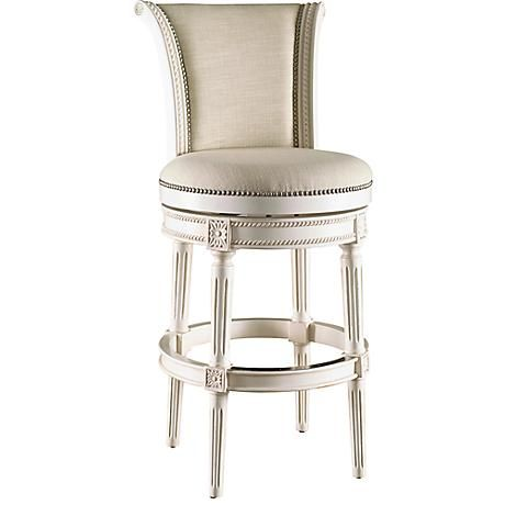 Chloe 30 Cream Fabric Scroll Back Swivel Barstool 8d020 Lamps Plus Bar Stools Swivel Counter Stools Traditional Bar Stool 30 swivel bar stools