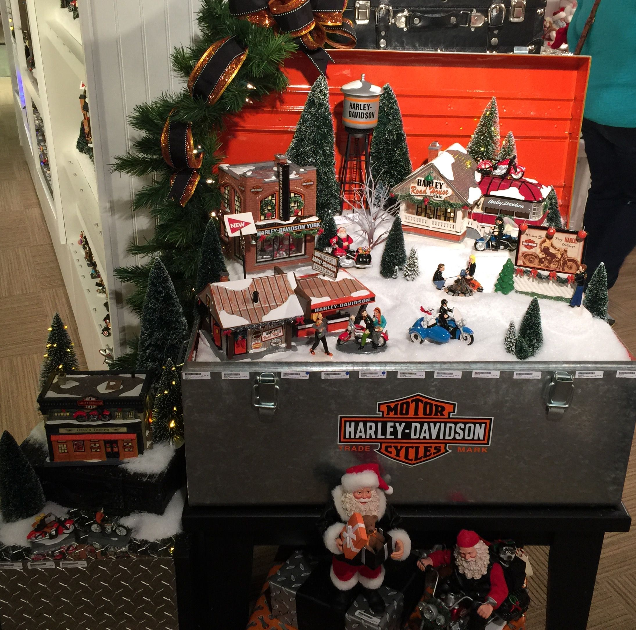 Our Customers Love Our D56 Harley Davidson Village Display