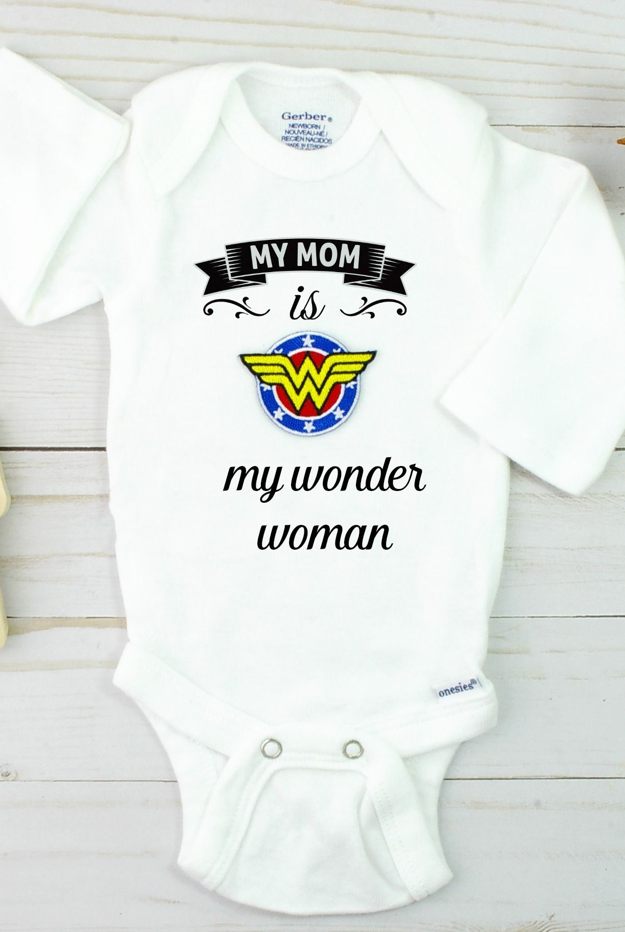 My mom is my wonder woman onesie FREE shipping one day sale