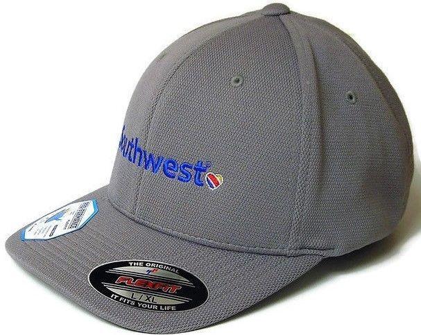 ad637466e0e Southwest Airlines Flexfit Cool Dry High-performance Baseball Cap Hat Gray  L XL  SportTek  BaseballCap