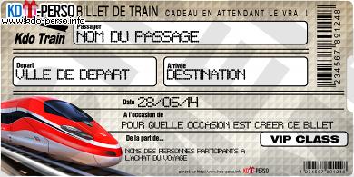 Creer Votre Faux Billet De Train Cadeau Personnalise Billet De Train Billet Cadeaux Personnalises