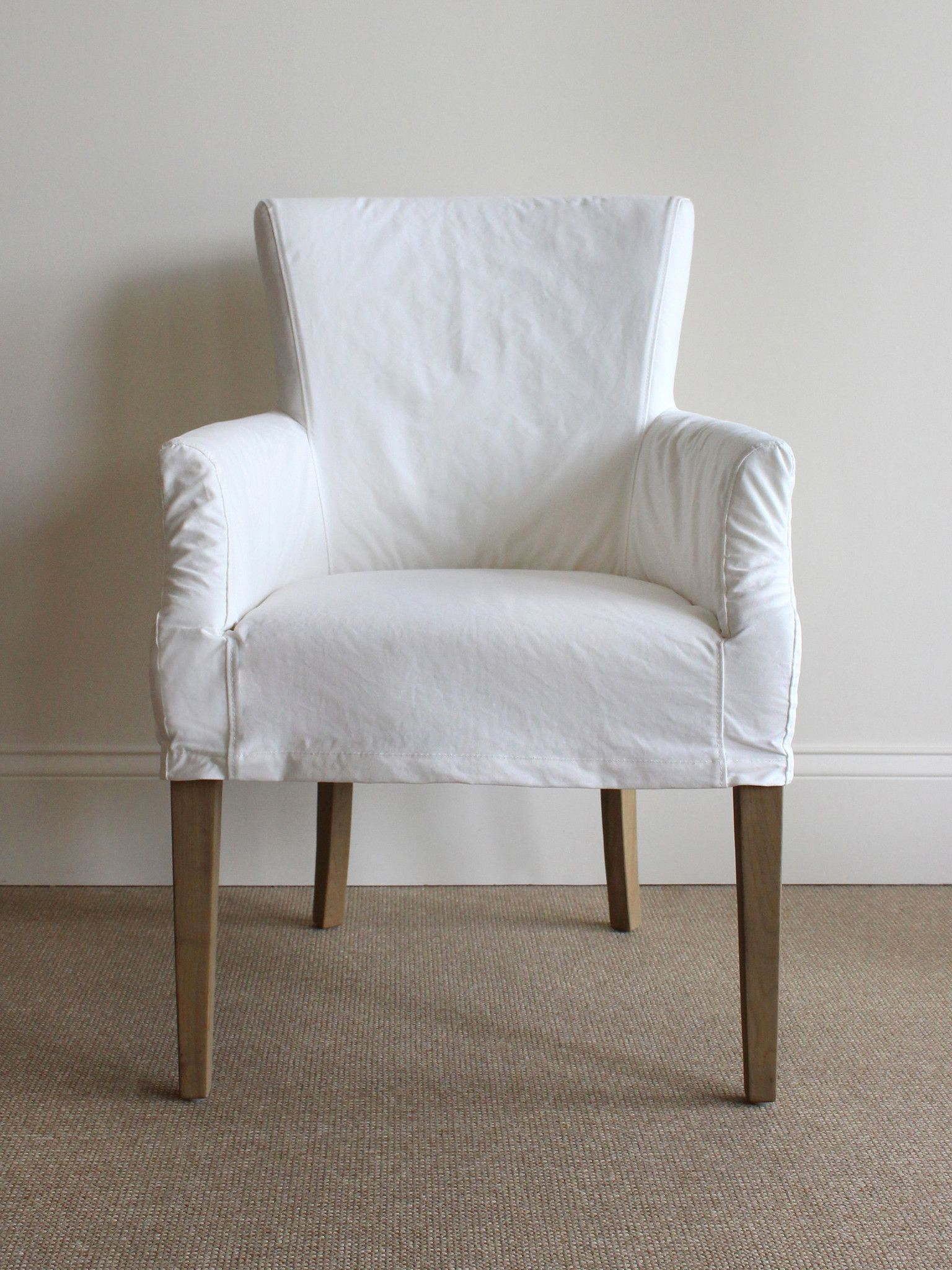 Slipcovered Dining Chair Dining chair slipcovers, Chair