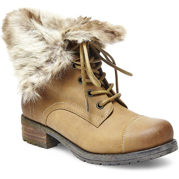 Australia - Lace Up Faux Shearling Lined Fold Over Ankle Womens Boots Online