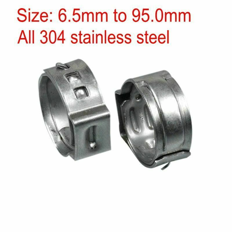 eBay #Sponsored One Ear Stepless Hose Clamps 304 Stainless Steel