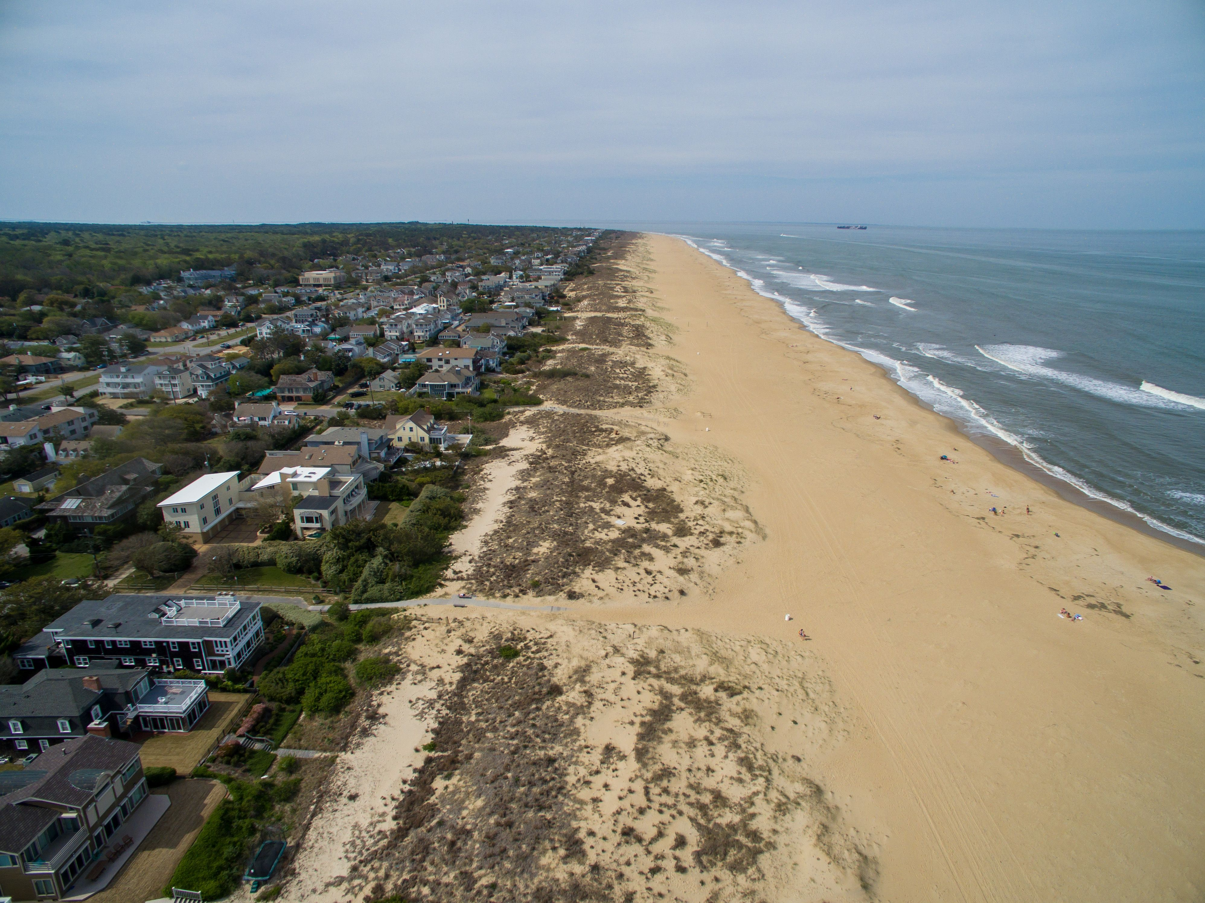 Aerial View Of The North End Beach In Virginia