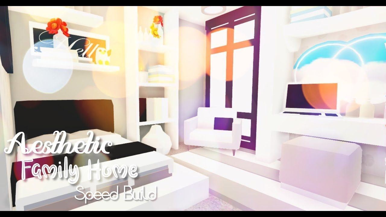 Aesthetic Family Home Pt 1 Tour And Speed Build Roblox Adopt Me In 2020 Cute Room Ideas Baby Room Neutral My Home Design