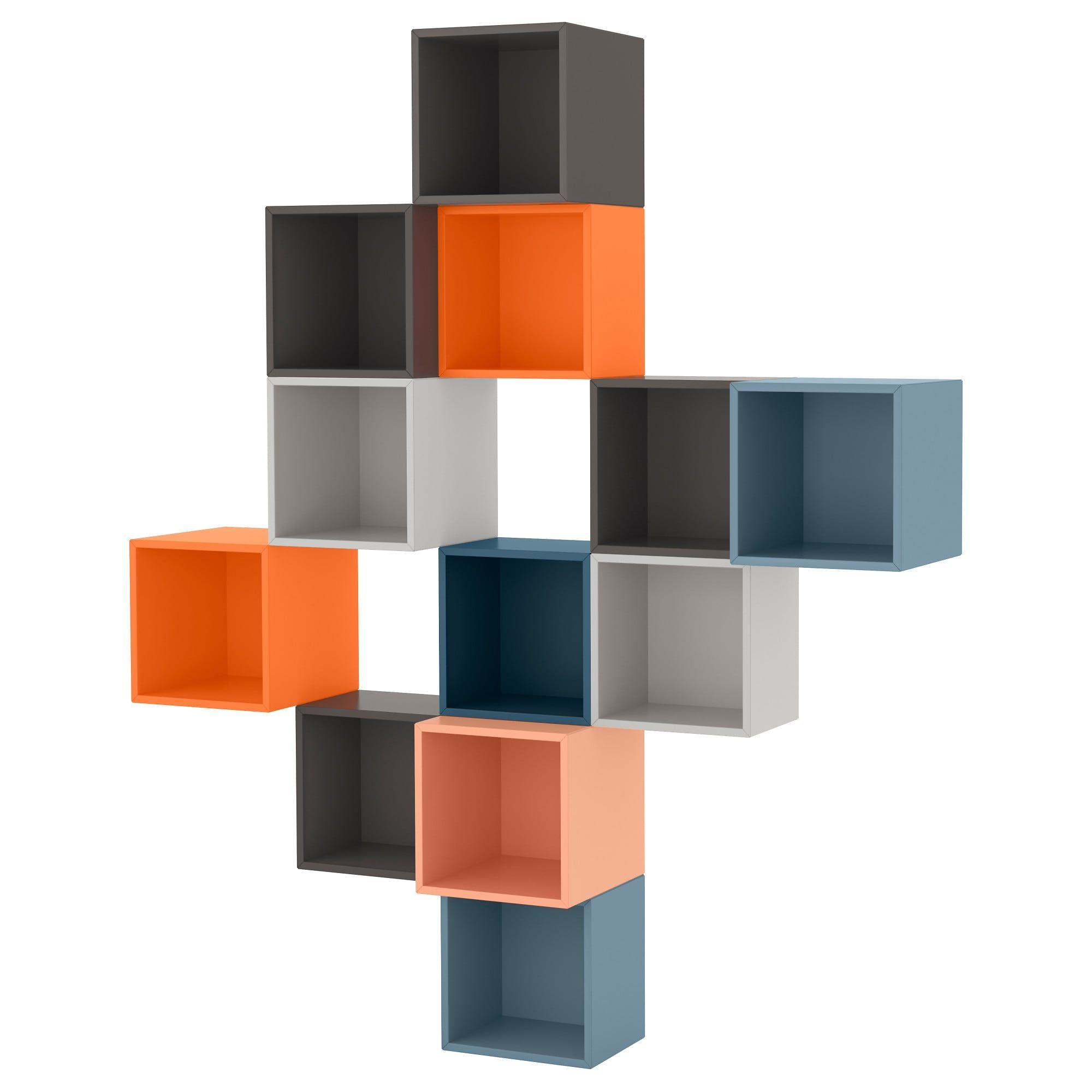 Eket Wall Mounted Cabinet Combination Multicolor Ikea