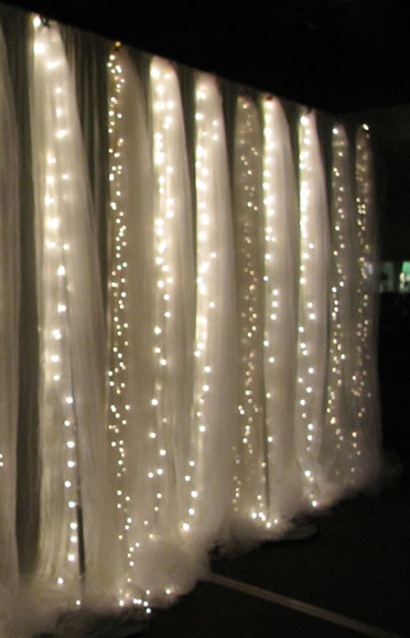Tree Arch With Sheer Set The Mood Sheer Curtains Hung