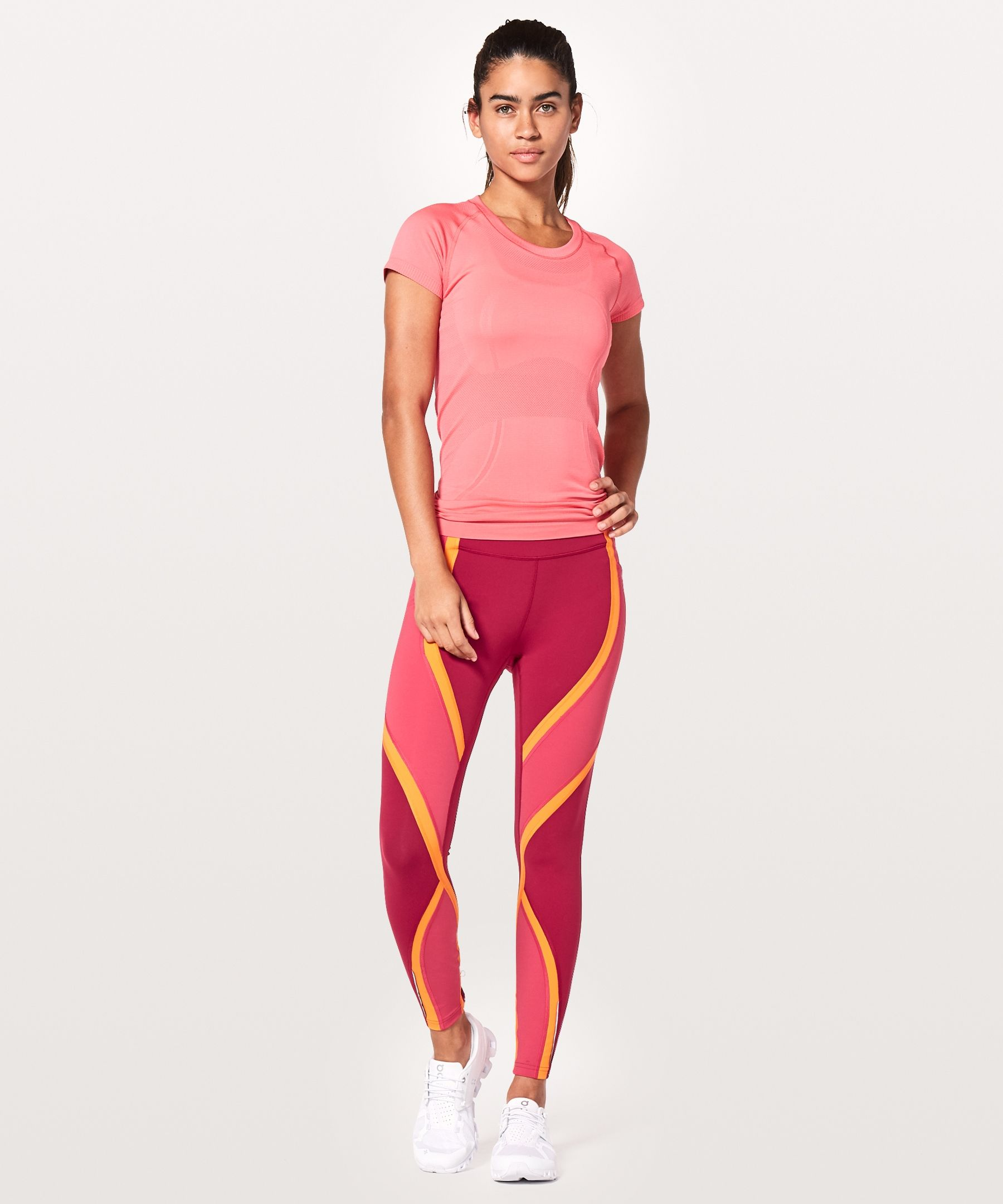 38e67e6b690be Ruby Red/Fuchsia Pink/Vivid Amber Dance Workout Clothes, Women's Pants, Yoga
