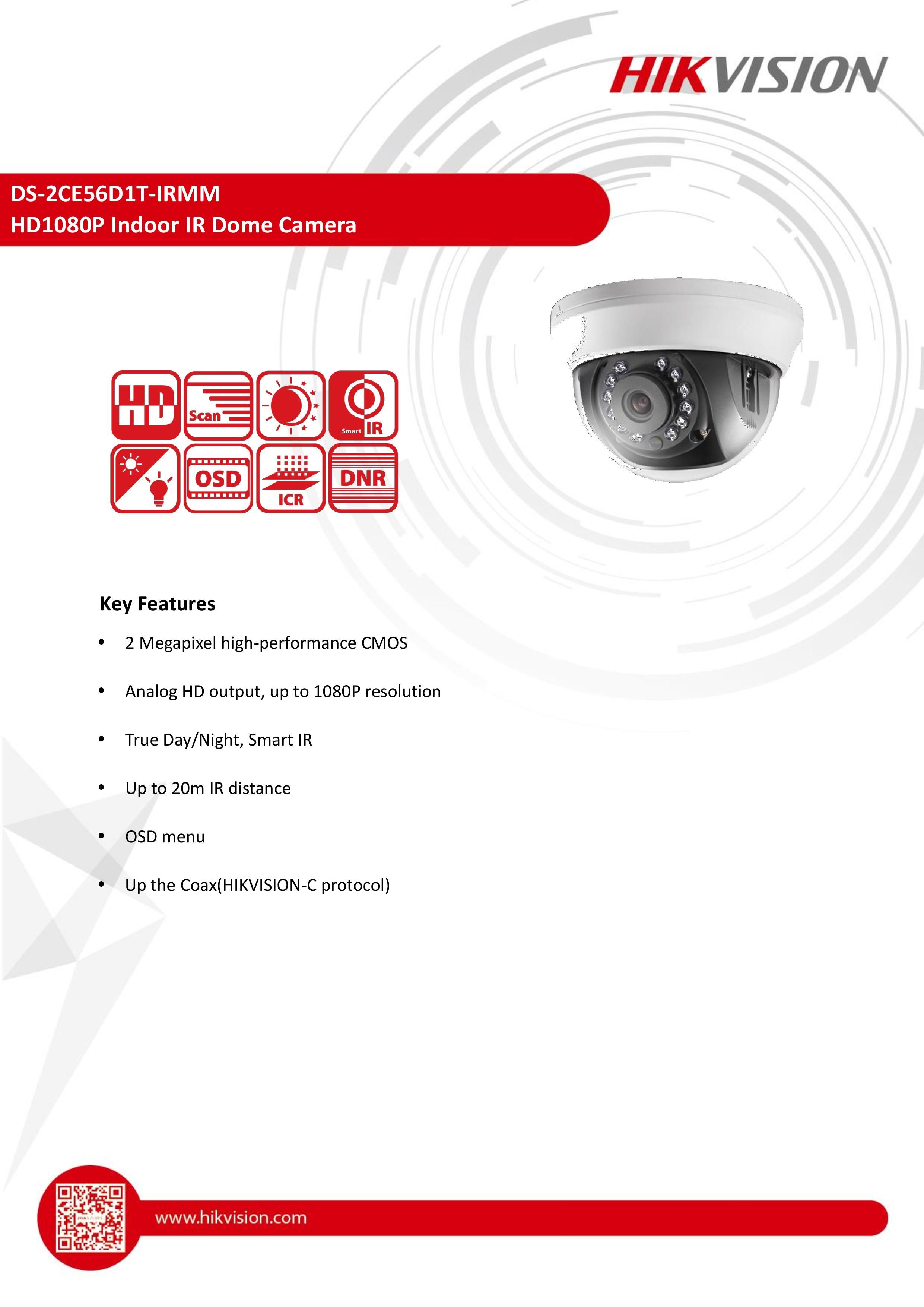 Hikvision CCTV Egypt ( DS2CE56D1TIRMM ) كاميرات مراقبه