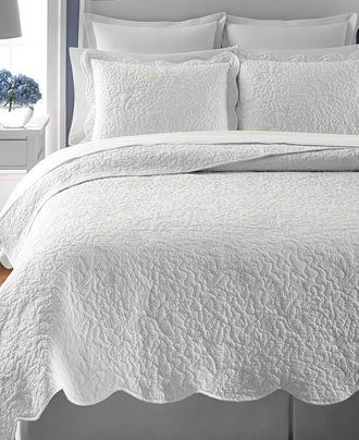 Martha Stewart Collection Whisper Leaves White Twin Quilt (Only at ... : quilts at macys - Adamdwight.com