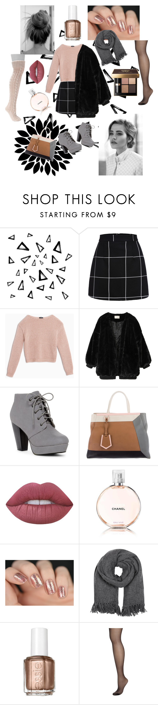 """""""yass"""" by noortje-bisschop ❤ liked on Polyvore featuring Nika, Max&Co., Fendi, Bobbi Brown Cosmetics, Lime Crime, Chanel, Isabel Marant, Essie, Pretty Polly and Muk Luks"""