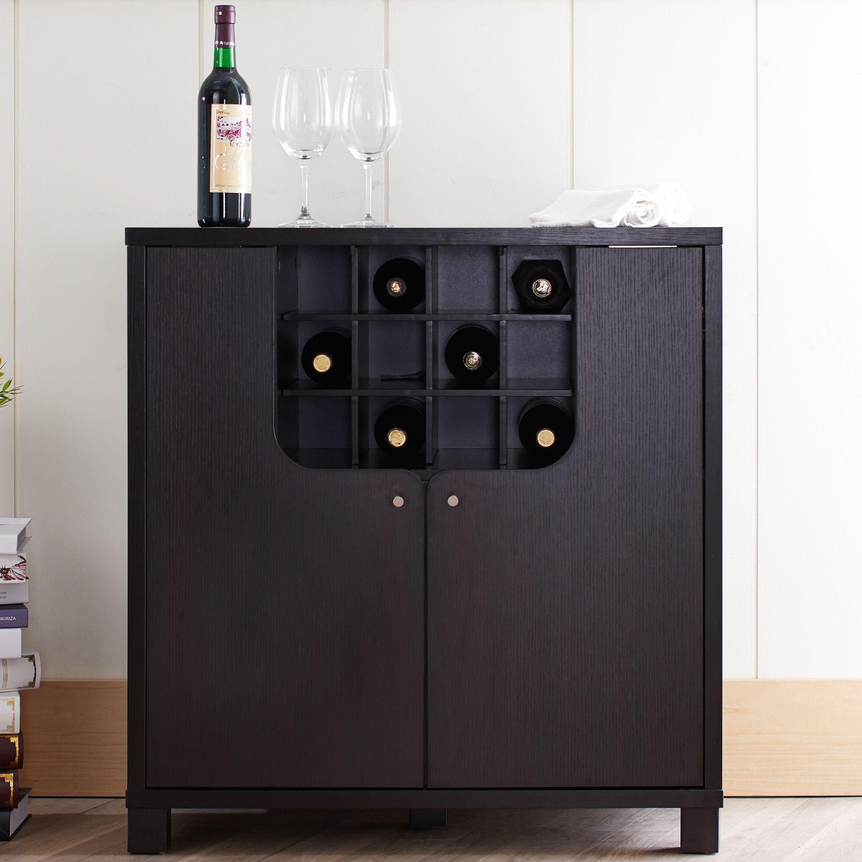 Modern Wine Cabinet Design Furniture Of America Bento Cappuccino Modern Wine Cabinet.