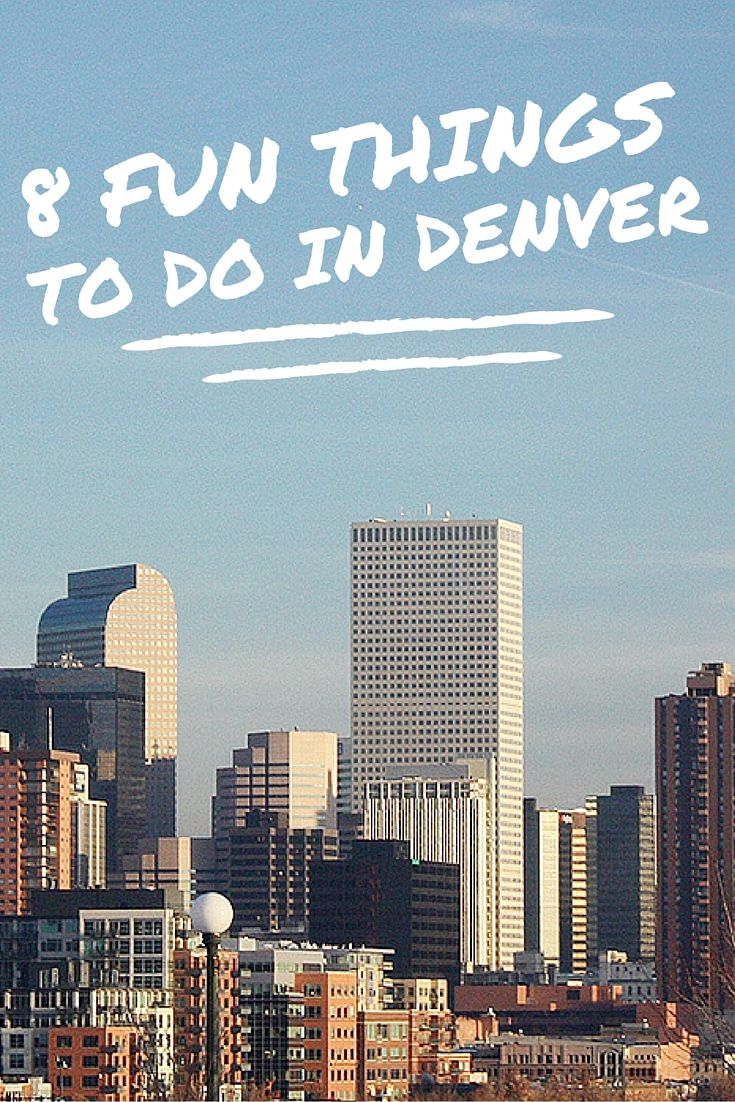 Fun things to do in the beautiful city of Denver from hiking to crafting to eating. #travel #denver #funthingstodoindenver