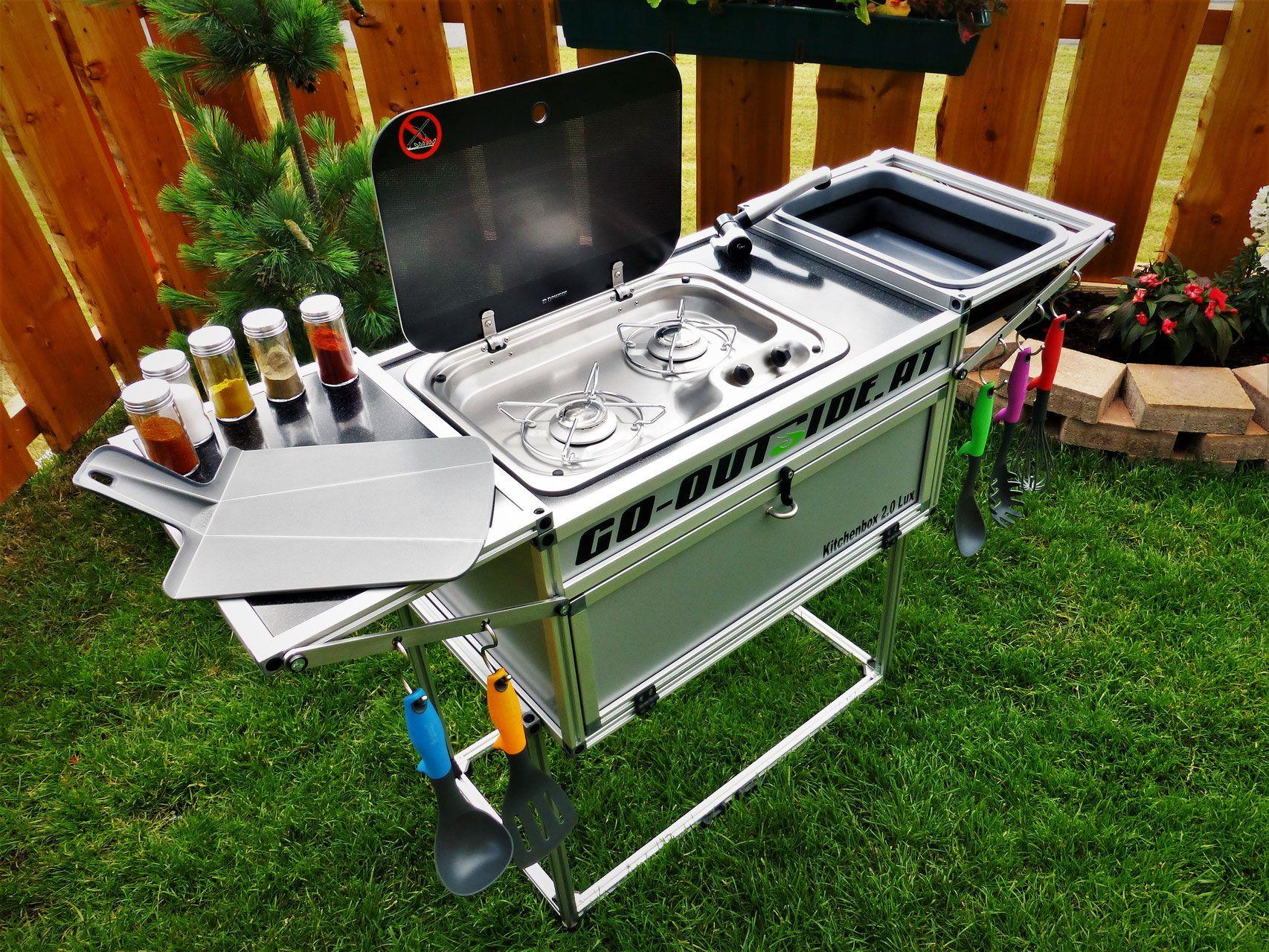 Outdoorküche Camping World : Camping und outdoor küche die kitchenbox ist speziell für das