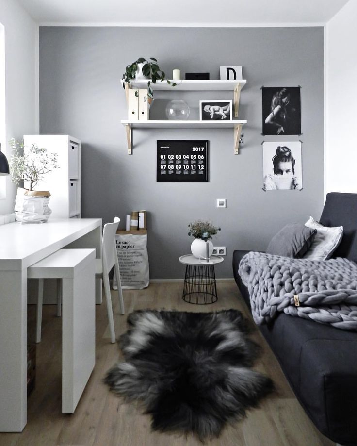 living room home office workspace. I Really Like This Grey Feature Wall- Would Love It In My Home Office Living Room Workspace D
