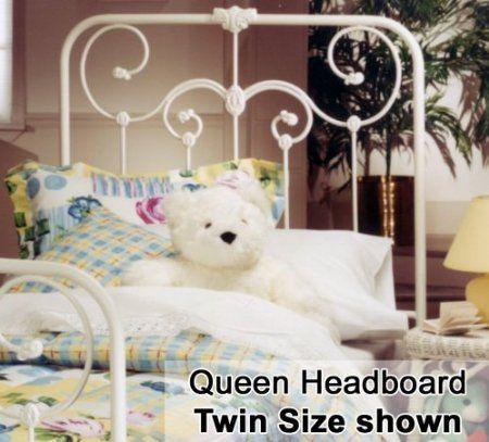 Amazon Com Hillsdale Lindsey White Metal Headboard Twin
