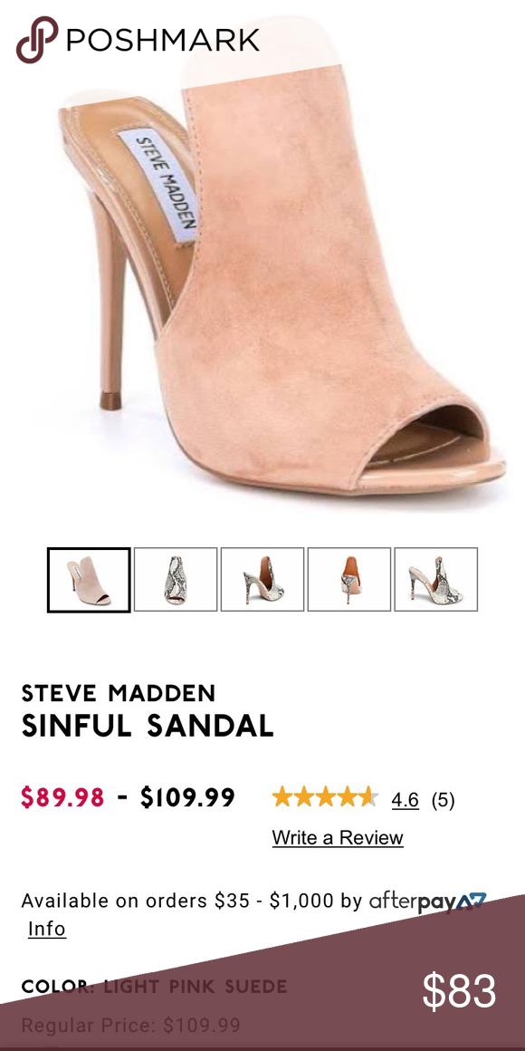 c9d1c1ea962 STEVE MADDEN SINFUL HEELS Tan heels by Steve Madden Only tried on ...