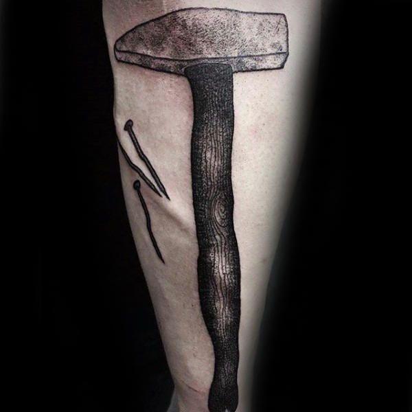 Henna Tattoo Für Jungs: 50 Hammer Tattoo Designs Für Männer