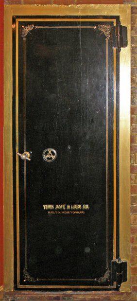 Antique York Safe Cast Iron Bank Vault Door Cool