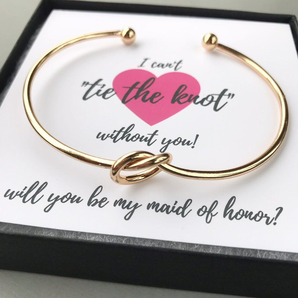 Bridesmaid Proposal Gifts Tie The Knot Bracelets