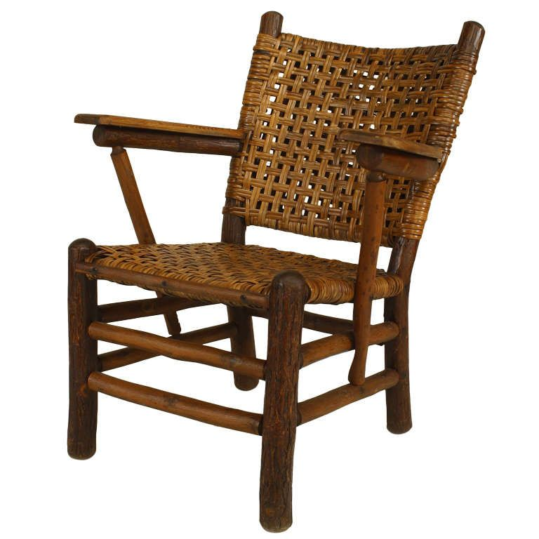 rustic old hickory arm chair - Old Hickory Furniture