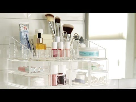 Luxe Acrylic Modular Makeup Storage | The Container Store