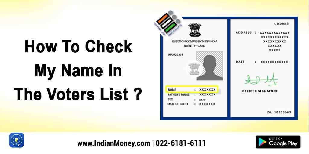 How To Check My Name In The Voters List Voters List Names