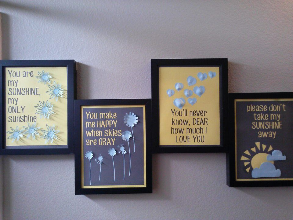you are my sunshine pictures kids gray and yellow bathroom