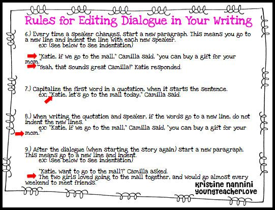 Young Teacher Love Writing Dialogue Part 2 Teaching Conventions Essay Example